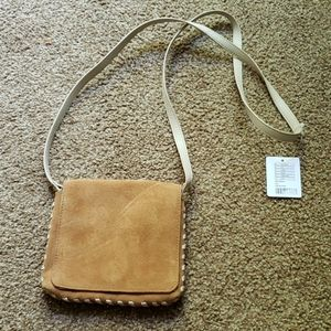 Small leather suede purse